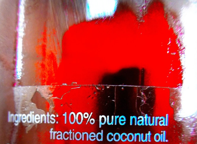 100% pure coconut oil