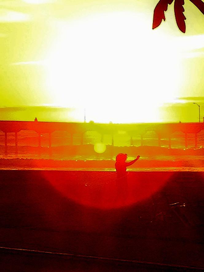 hula hoop sunset