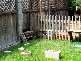 blank canvas- garden fence
