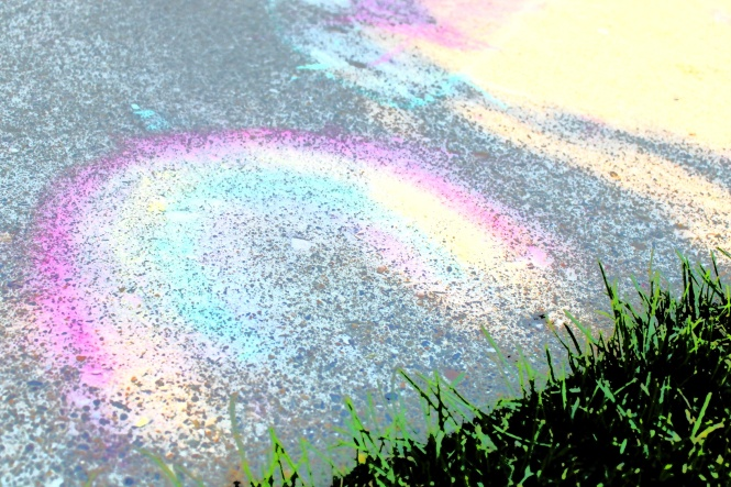 AC pavement rainbow