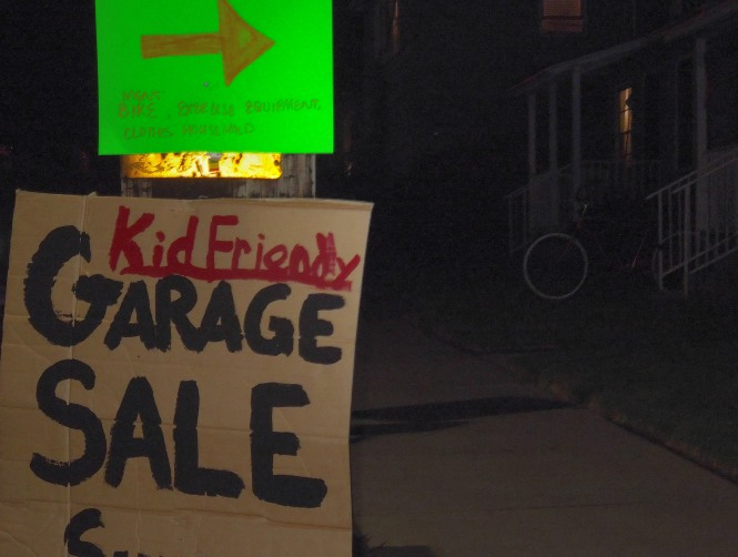 are garage sales typically NOT kid friendly? i suppose kids don't always have a ton of spare change to spend. i suppose if it were MY garage sale i would prefer to be selling to rich adults and not poor children...