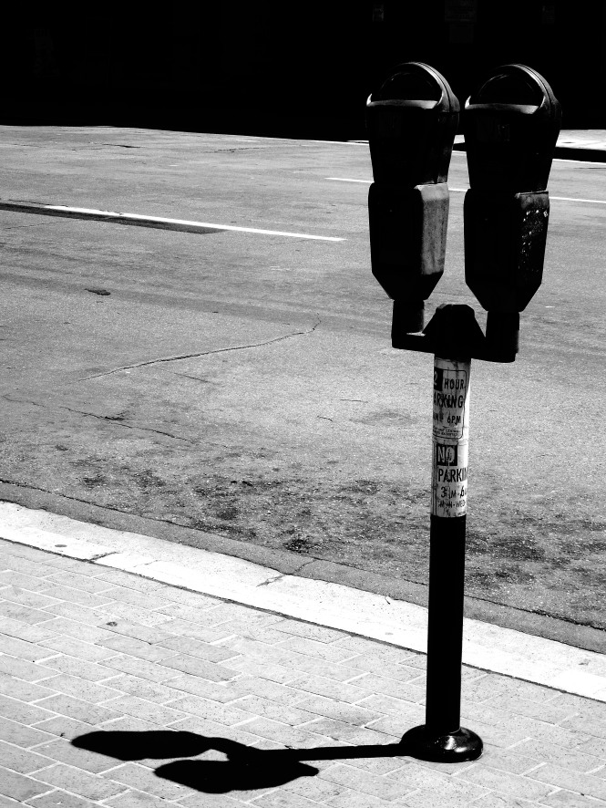 parking meters- the bane many downtown drivers. where does all that spare change fit?