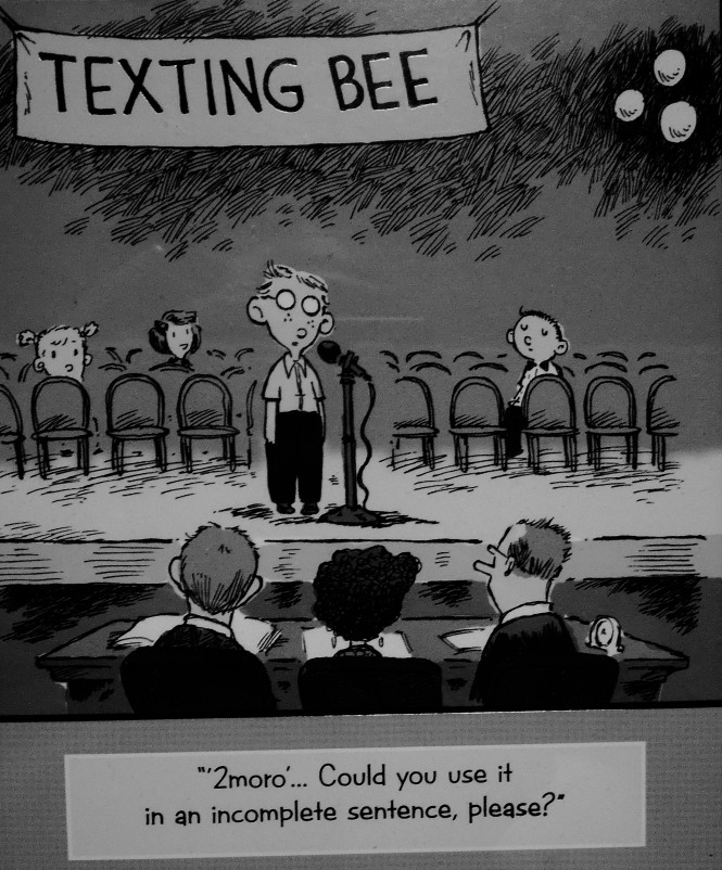 texting bee comical