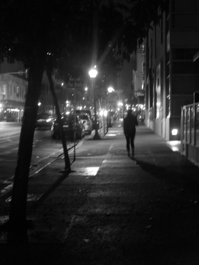 downtown black and white guy