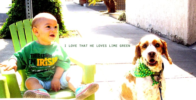I.S. april- i love lime green