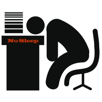 at the desk icon no sleep