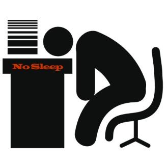 at the desk icon no sleep