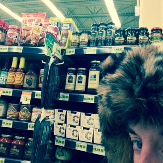 leopard in the grocery store
